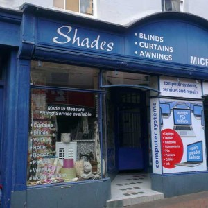 Shades shop on Bailey Street, Oswestry